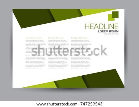 Flyer, brochure, billboard template design landscape orientation for education, presentation, website. Green color. Editable vector illustration