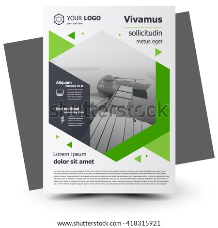 Flyer brochure design, business flyer size A4 template, creative leaflet, trend cover geometric