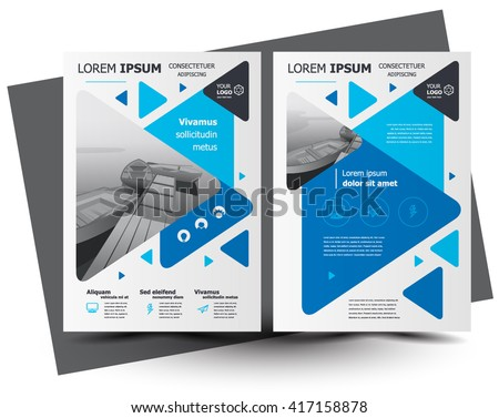Flyer brochure design, business flyer size A4 template, creative leaflet, trend cover triangles