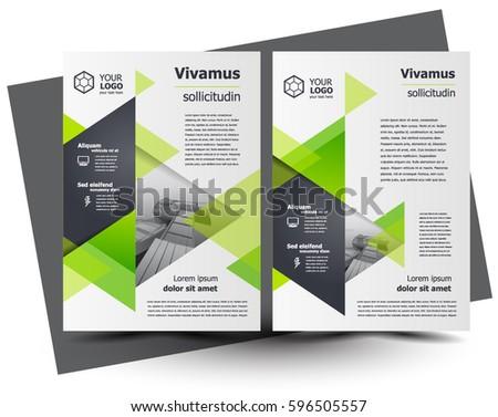 flyer brochure design template business flyer size a4 geometric