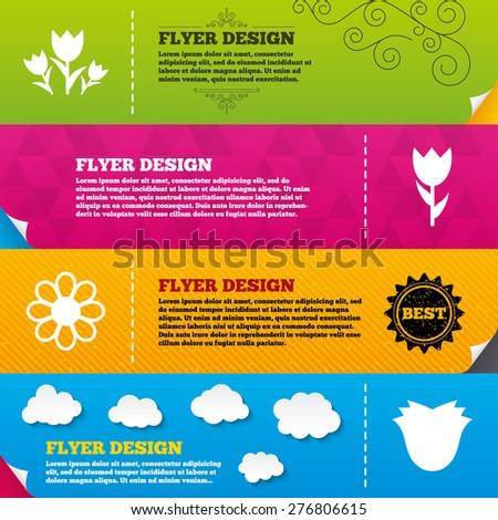 flyer brochure designs flowers