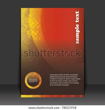Flyer design - stock vector
