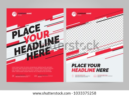 Flyer design sports invitation template. #1033375258