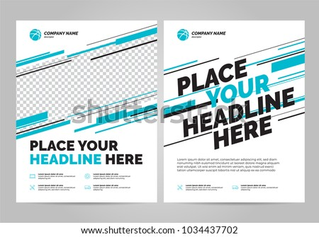 Flyer design sports invitation template. #1034437702