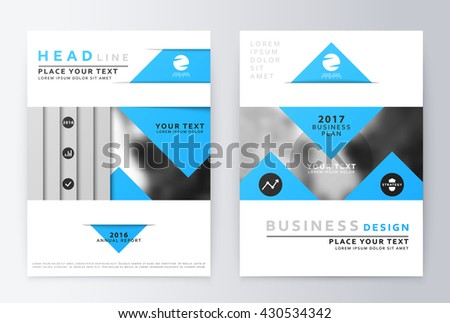 Blank Company Profile Template Download Free Vector Art Stock - Template of a brochure