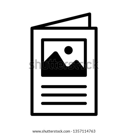 flyer icon, brochure vector
