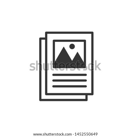 Flyer icon template color editable. Brochure symbol vector sign isolated on white background. Simple logo vector illustration for graphic and web design.