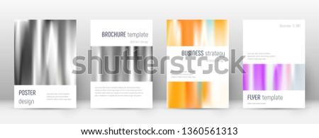 flyer layout minimalistic