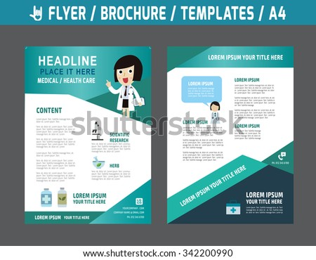 Health And Wellness Brochure Vector Template Download Free Vector