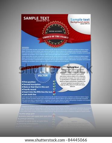 Flyer or cover design. Folder design Business content background. Eps10 vector