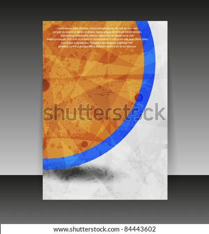 Flyer or cover design. Folder design content background. editable vector illustration - stock vector