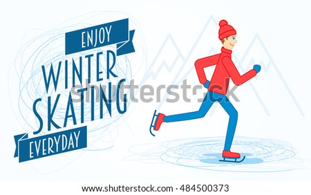 people ice skating illustration download free vector art stock