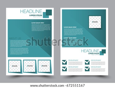 Flyer Template A4 Size Business Brochure Design Annual Report