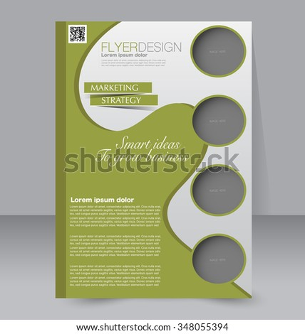 Flyer Template Brochure Design Editable A4 Poster For Business – Green Flyer Template