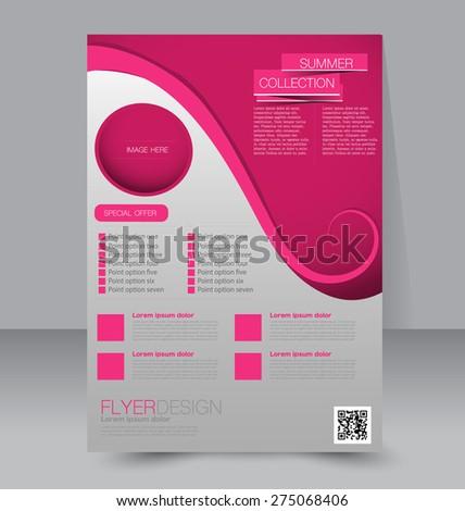 skinny flyer or leaflet design set of two side brochure template or