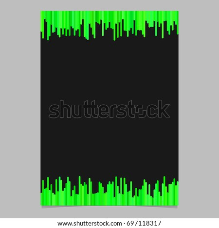 stock-vector-flyer-template-from-vertical-stripes-in-green-tones-vector-poster-illustration-with-black