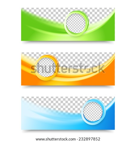 Collection of abstract wave banner download free vector art flyer template header design banner design templates collection with bubbles pronofoot35fo Choice Image