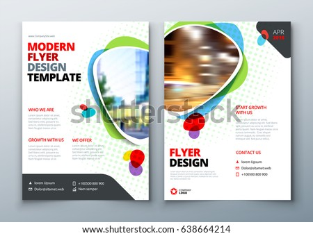 Geometric Business Brochure Flyer Design Vector Template Download