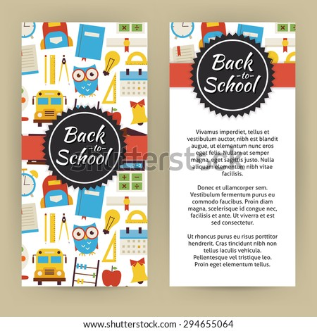 Flyer Template Of Back To School And Education Objects And