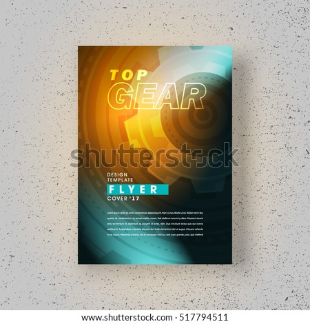 flyer top gear cover design