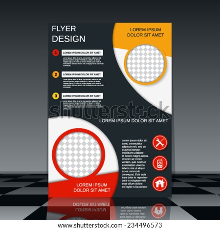 Flyer vector template Booklet or brochure cover design