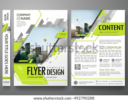 abstract geometric shapes company flyer brochure poster design ...