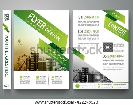 flyers design template vector