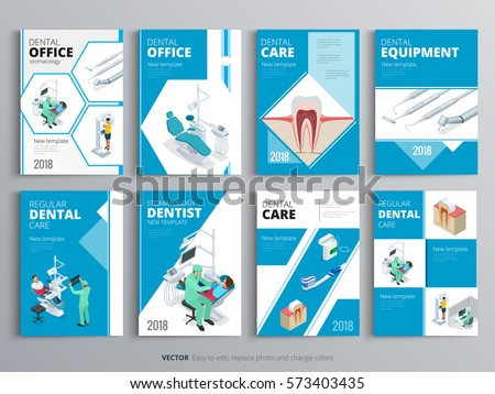 Flyers for Health and Medical concept. Hygiene template of magazines, posters, book cover, banners. Clinic background. Layout dentistry illustrations modern pages