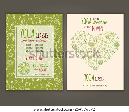 Yoga class illustration download free vector art stock graphics flyers template for yoga class yoga quote yoga vector seamless pattern is under clipping m4hsunfo