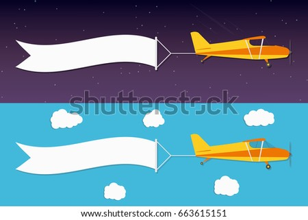 flying advertising banner