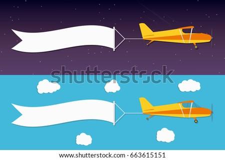 flying advertising banner