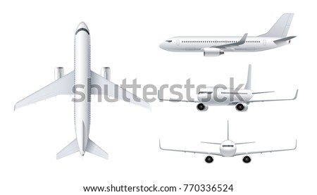flying airplane  jet aircraft