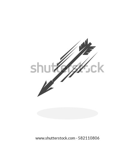 flying arrow icon isolated on