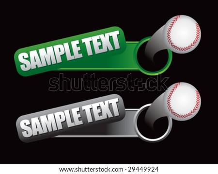 flying banner ball featuring baseball