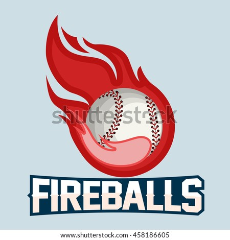 flying baseball ball with red