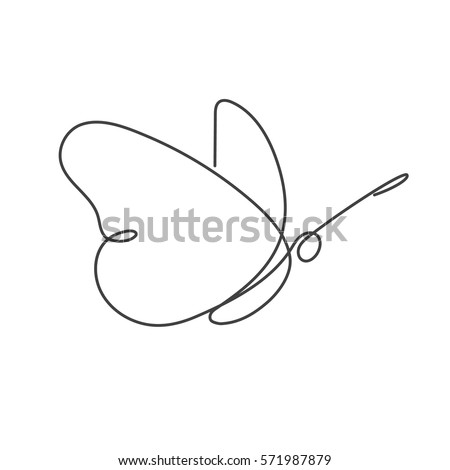 flying bird continuous line