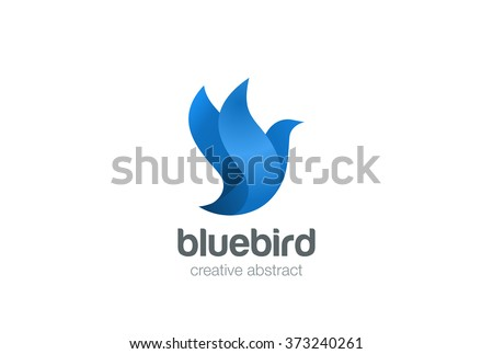 flying bird logo design