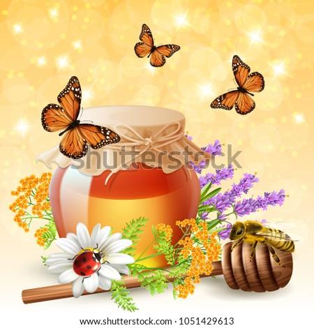 flying butterflies ladybird and