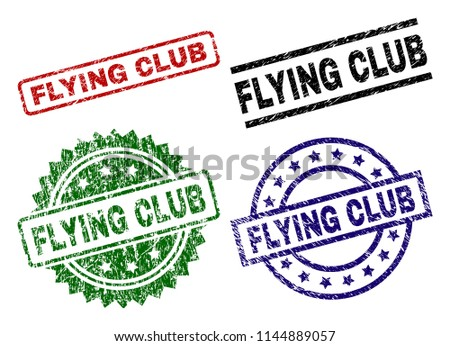 flying club seal prints with
