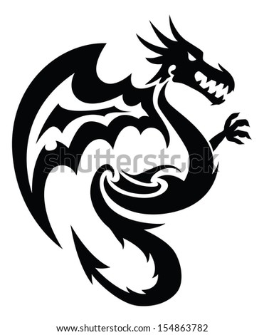 Royalty free black dragon in circlector draw by 197537078 flying dragon tattoo design vintage engraved illustration 154863782 ccuart Images