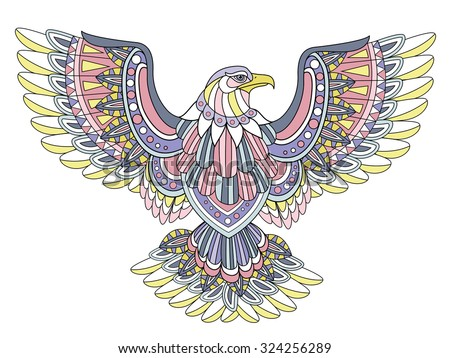 flying eagle coloring page in