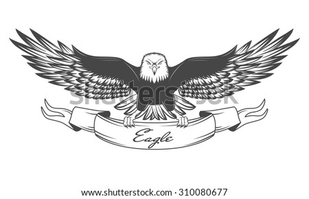 flying eagle line drawing