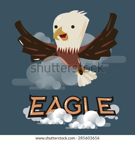 flying eagle in the sky