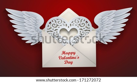 flying envelope to valentine's