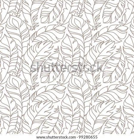 flying feathers seamless pattern vector eps 10