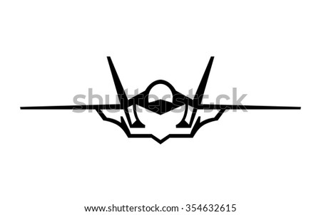 flying fighter jet vector icon