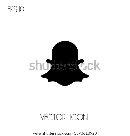 flying ghost vector icon for social media logo sign
