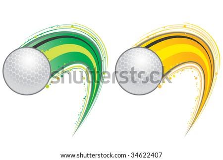 golf ball vector. stock vector : flying golf