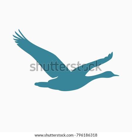 FLYING GOOSE VECTOR SILHOUETTE
