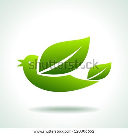 flying green bird, save green